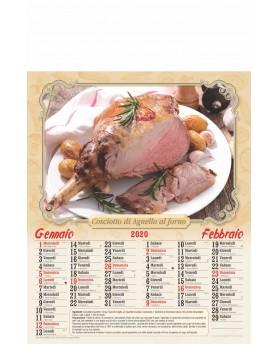 Calendari Illustrati 6 Fogli Carne Cotta Santa Teresa di Riva - Messina