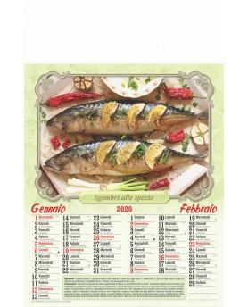 Calendari Illustrati 6 Fogli Pesce Cotto Santa Teresa di Riva - Messina